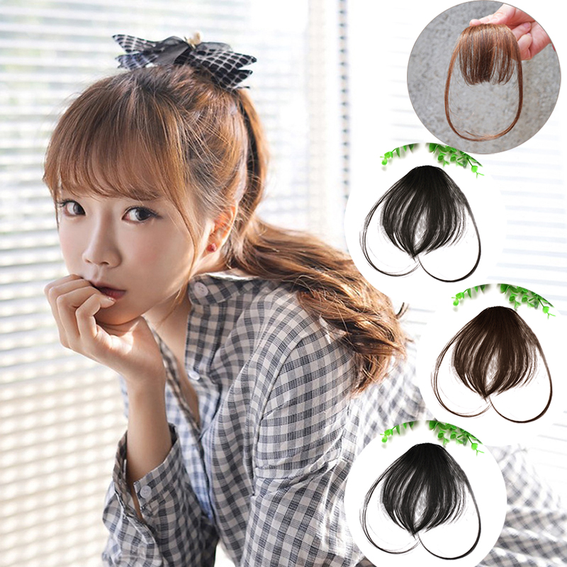 Hair Clip In Bangs Fake Hair Extension False Hair Piece Clip On