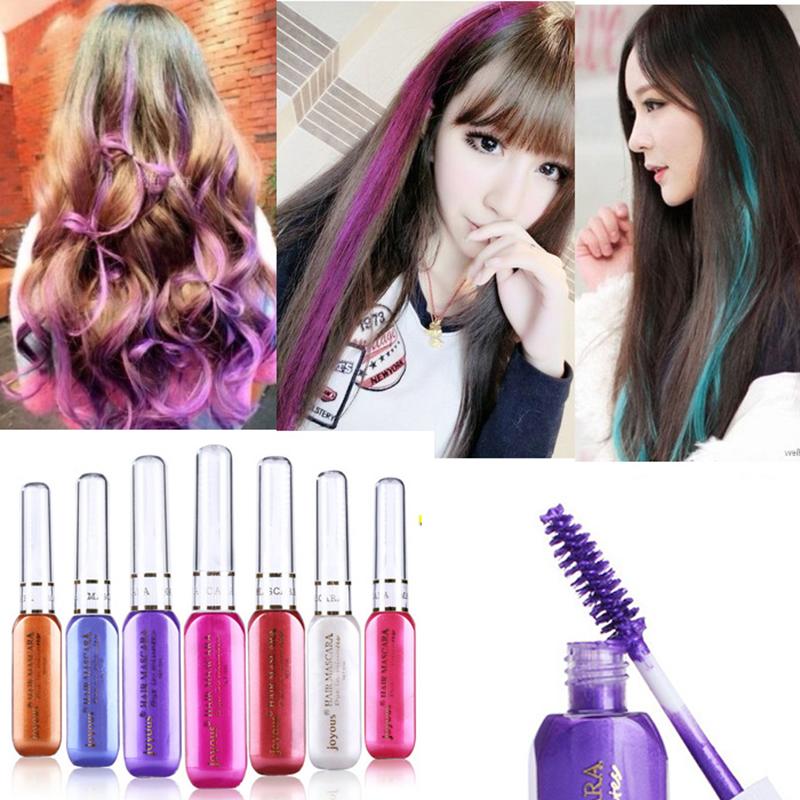 Colorful Temporary Hair Dye Mascara Non Toxic Hair Mix Color Dyeing