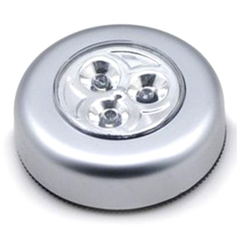 mini 3 led drahtlos wand ber hren kontrolle lampe k che nacht batterie licht ebay. Black Bedroom Furniture Sets. Home Design Ideas