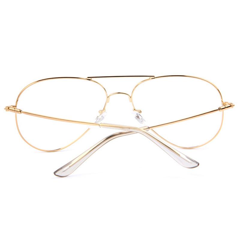 Clear Lens Aviator Gold Glasses Fashion Sunglasses Retro Vintage Style Metal 796789192752 Ebay