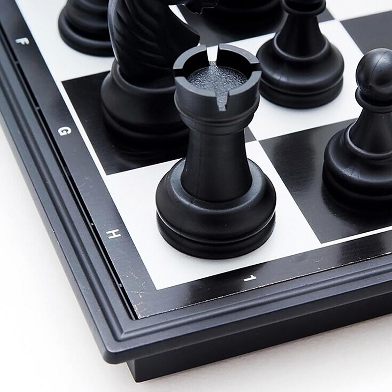 P4L0 Magnetschach Reise Zusammenfaltbares Brettspiel Tragbares SpielGeschenk