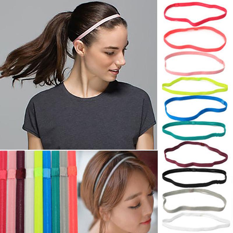 Sport Sweat Schweißband Stirnband Yoga-Gymnastik Stretch-Haar-Band Weiss