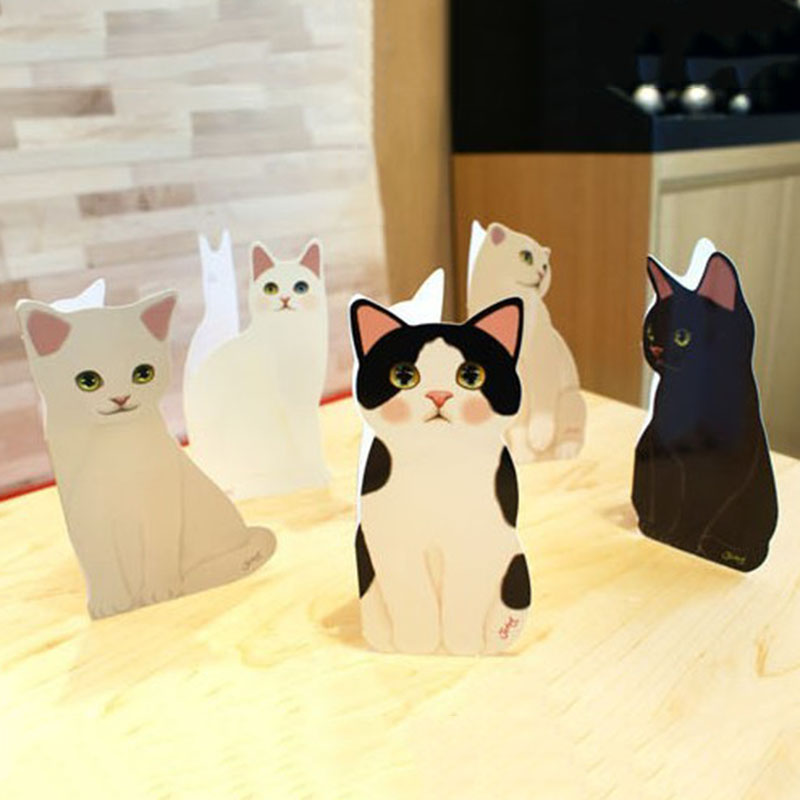 Details About New Cute Standing Cat Greeting Card Diy Birthday Valentines Gifts 2019