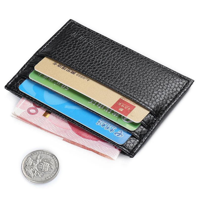Herren Leder Slim Bifold Credit ID Kartenhalter Geldbörse Brieftasche Clutc K9R0