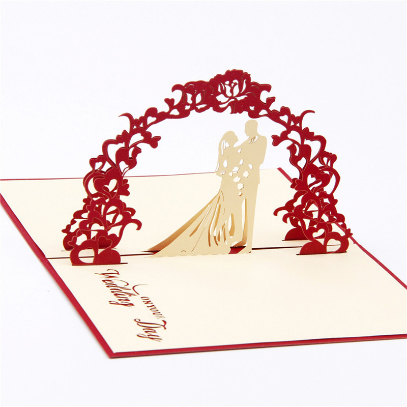 Details About 3D Christmas Handmade Up Wedding Party Birthday Invitations Greeting Cards