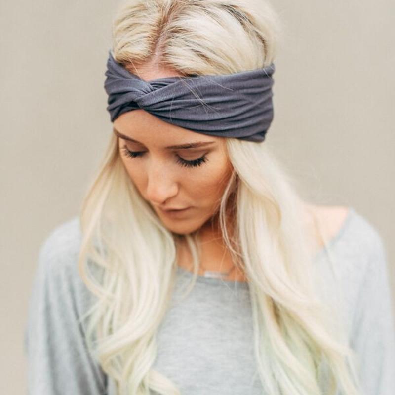 Women Girl s Turban Twist Knot Head Wrap Headband Twisted Knotted Hair Ba  ddvv  e039f40e527