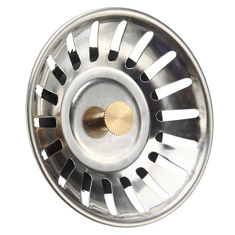 Sink Plug Stainless Steel Basket Strainer Waste Drain Kitchen Home Stopper P3w5 Ebay