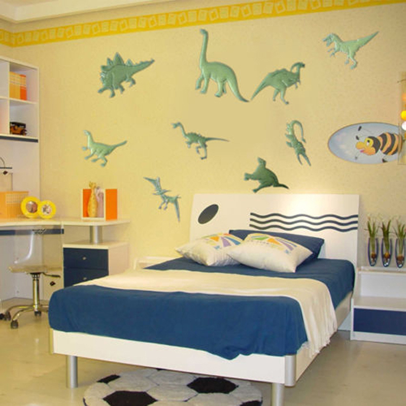 9Pcs Glow in the Dark Night Dinosaurs Stickers Home Wall Bedroom DecalsDecor Hot