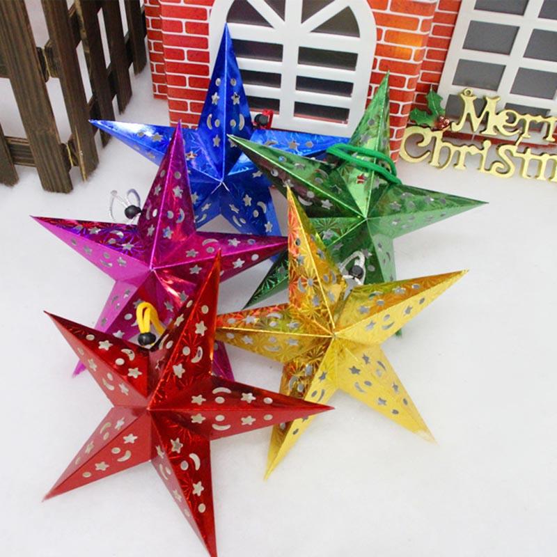 1x weihnachten h ngend schnur star baumdekoration hause wand weihnachtsdeko bund ebay - Weihnachtsdeko hangend ...