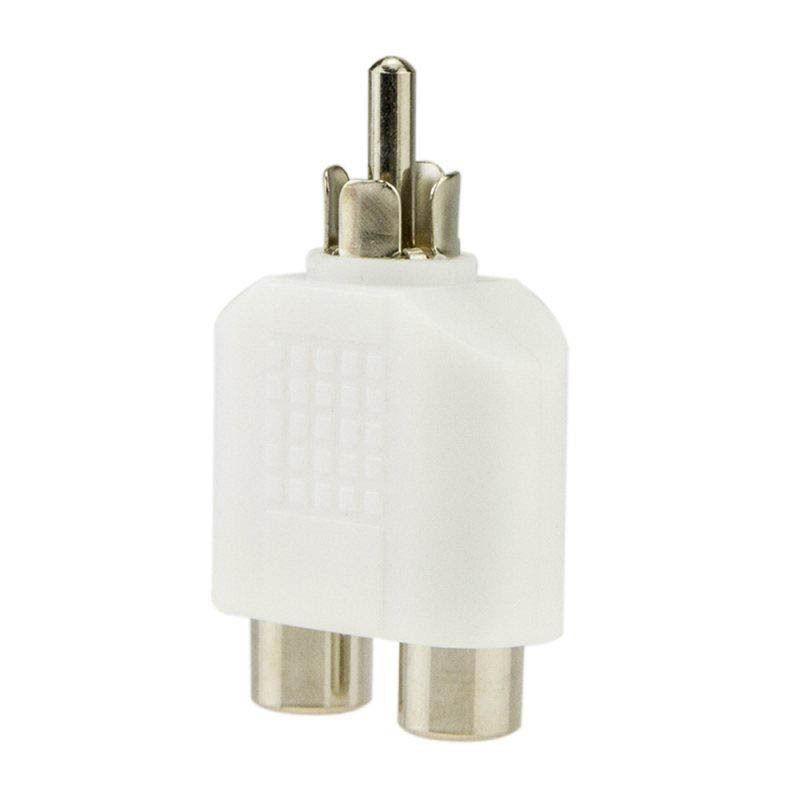 4 Rca Y Splitter 1 Male To 2 Female Cable Adapter Av