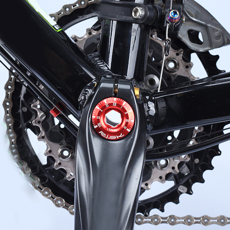 1X Aluminium Kurbelschraube für Shimano Hollowtech Fahrrad CNC M20mmx9mm R6B4