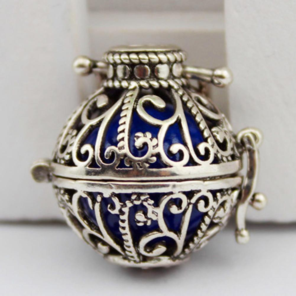 Harmony Ball Box Locket Necklace for Mexican Bell Prenatal Education Music J9K7