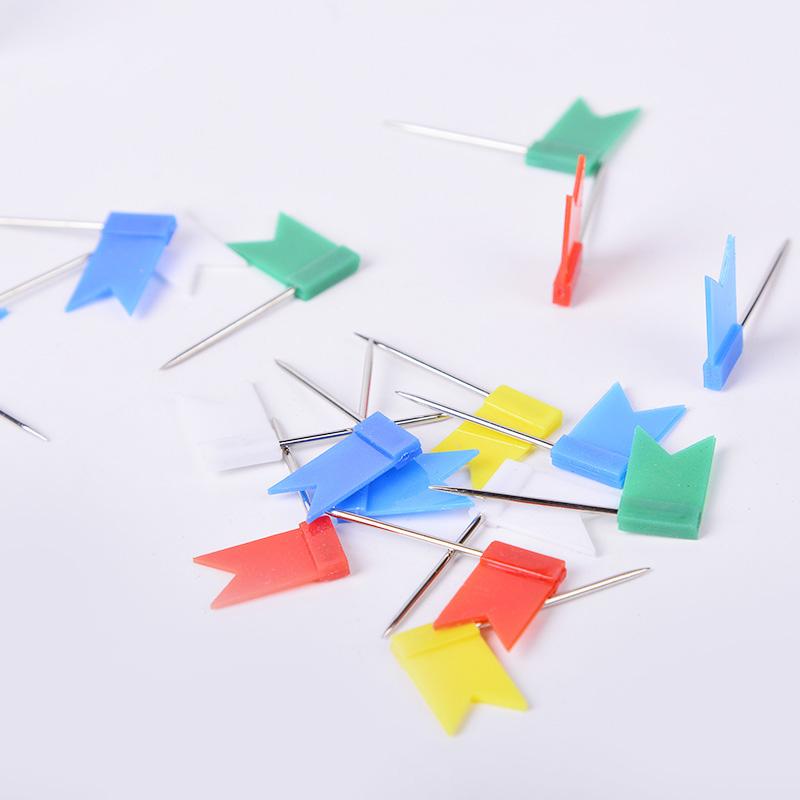 100stk Pinnadeln Push Pins Pinnwand-Nadeln Nadeln bunt-farbig w//