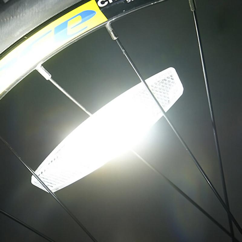 2Paar Neu Fahrrad Reflektor Sicherheit Speichenreflektoren Felgenreflektoren