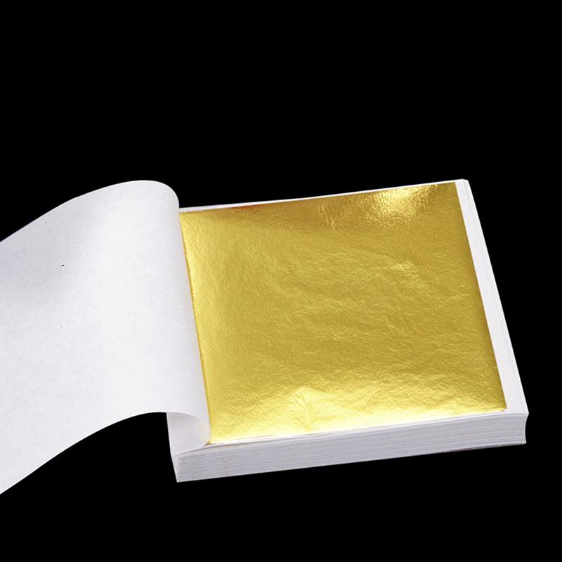 Details about 100 Sheets Gold Foil Leaf Sheets For Art Crafts Gilding  Framing Scrap U9U9