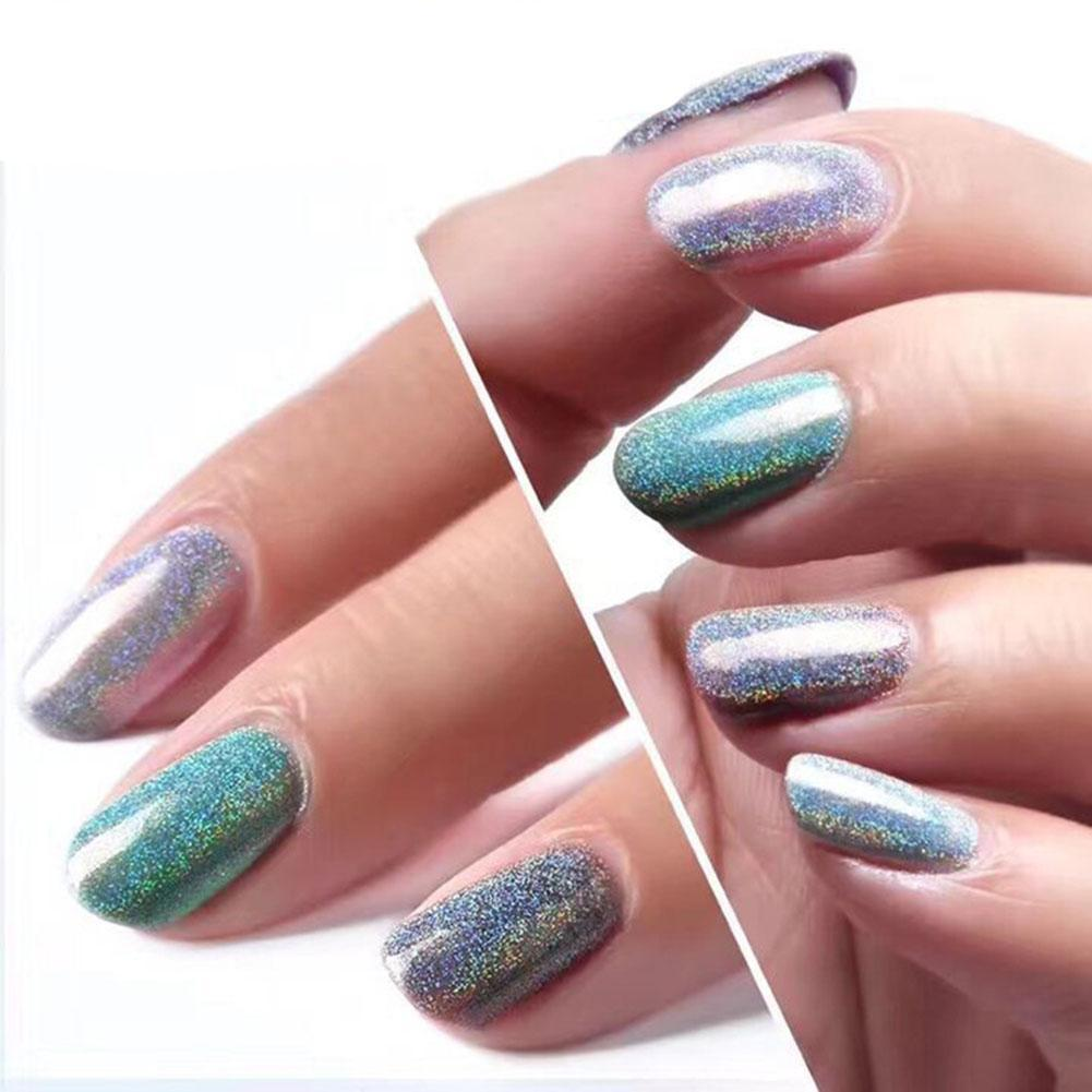 1g Holographic Nagel Pigment Puder Pulver Mirror Powder Nail Arts Chrome Glitter   EBay