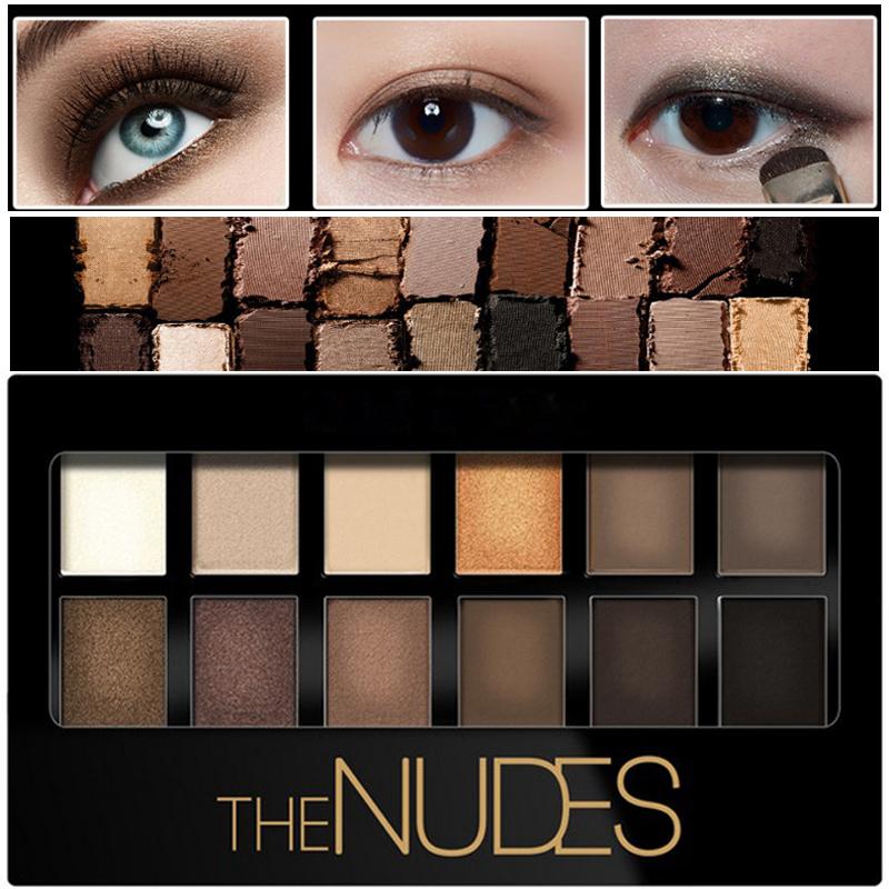 Bronzer Glitter Matte Eye Shadow Cosmetics Eye Makeup Palette Nude