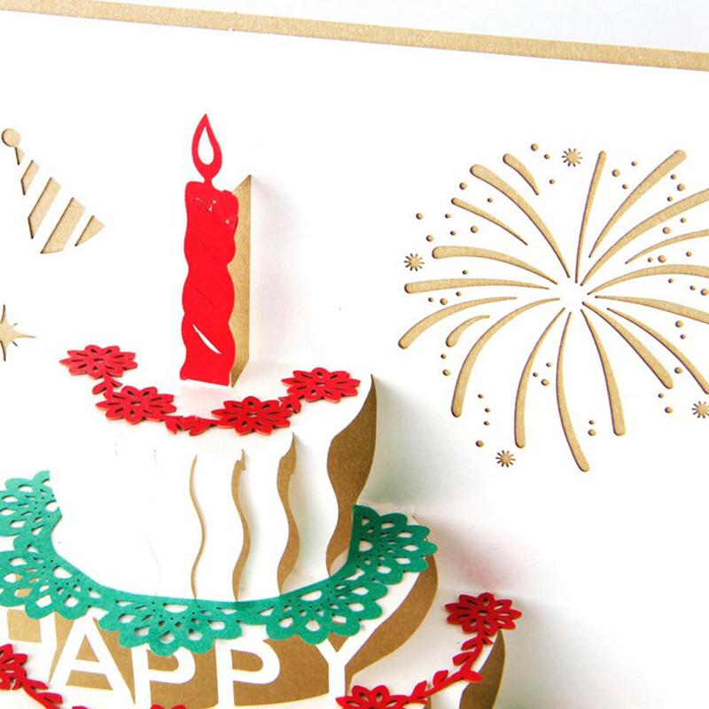 Up 3D Karte räumlich Kuchen Design Grußkarte Für Ostern Geburtstag ~