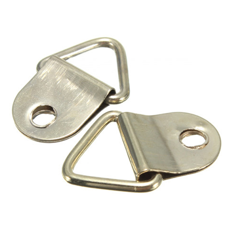 Small Triangle D Ring Picture Frame Hangers