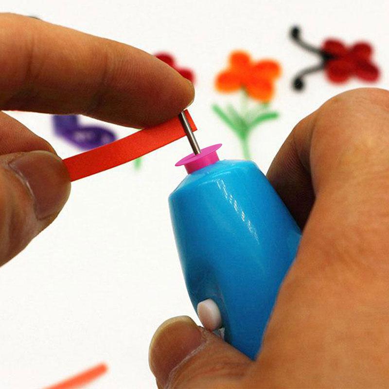 Elektrisch Paper Quilling Stift Slotted Paper Craft Winder stehlen Curling  TOP