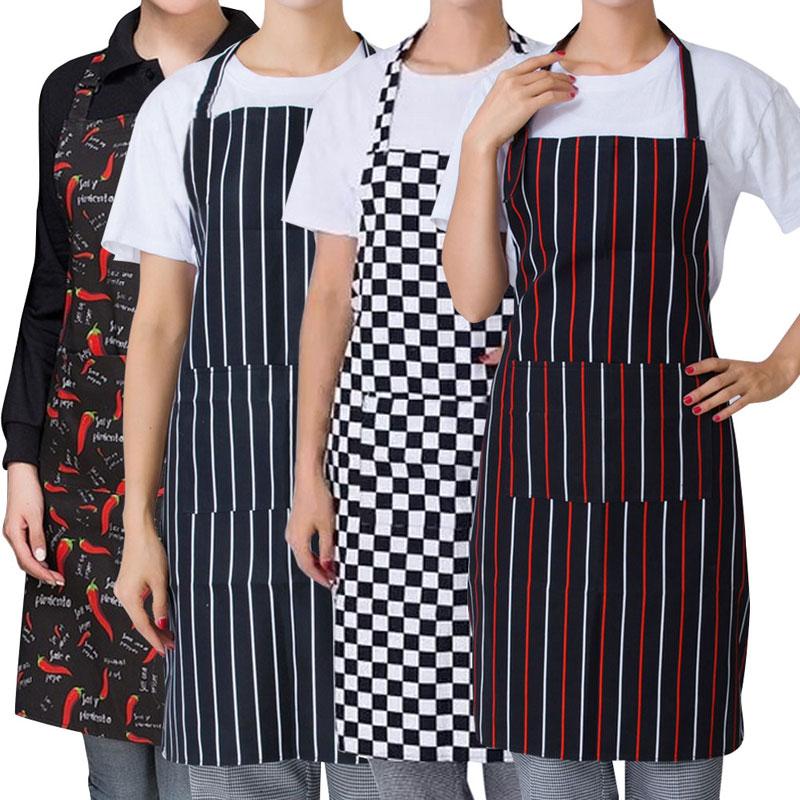 Womens Mens Cooking Chef Kitchen Restaurant Bib Apron Dress Anti Oil ...