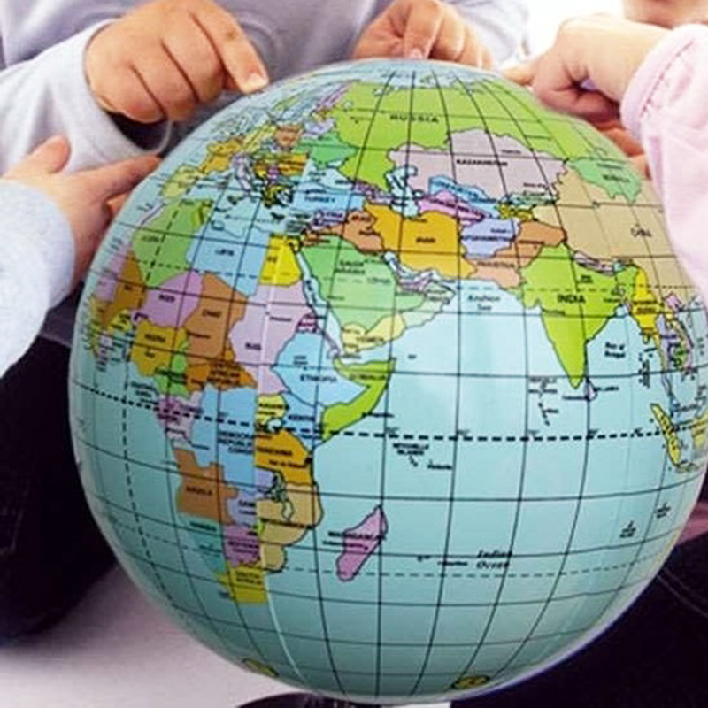 Globe Map Of The World.Details About World Globe Earth Map Kid Teaching Geography Beach Ball Toy Inflatable Education
