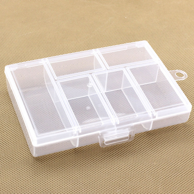 15 Compartments Small Plastic Storage Box Clear Square Multipurpose Display Case