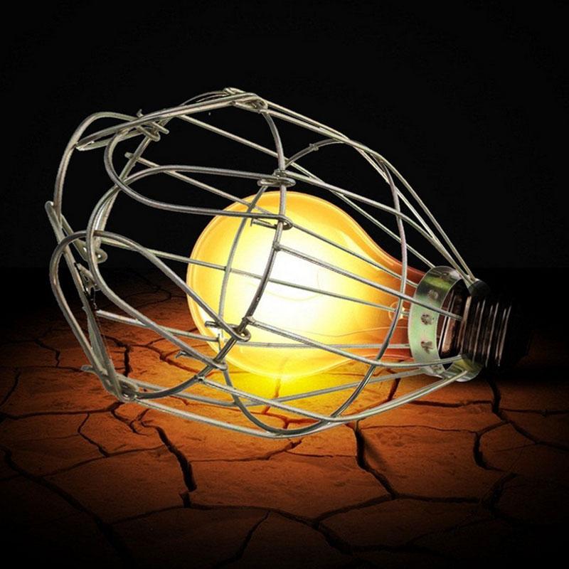 retro metall lamp cage komplett lampen schutzkorb birne schutzkorb garten ebay. Black Bedroom Furniture Sets. Home Design Ideas