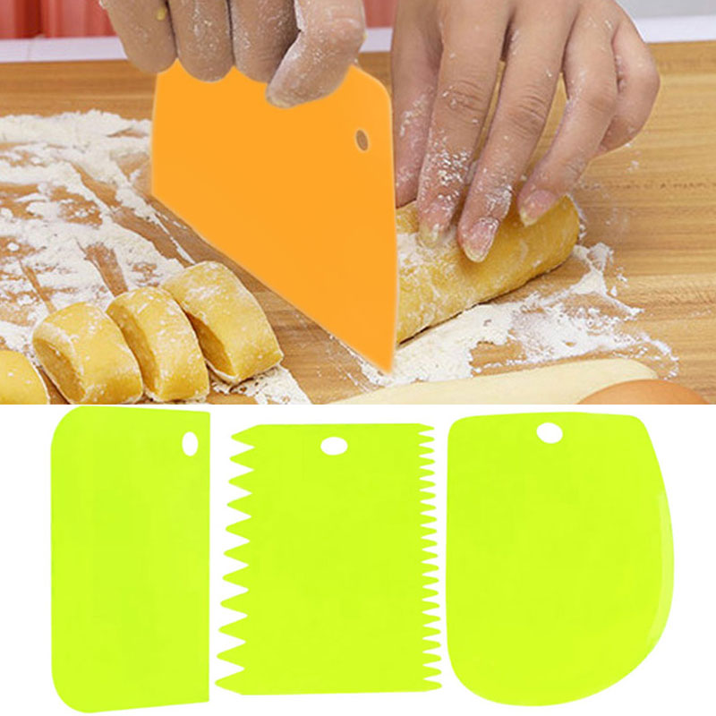 3Pcs Pastry Butter Dough Cake Cookie Scraper Decorating ...