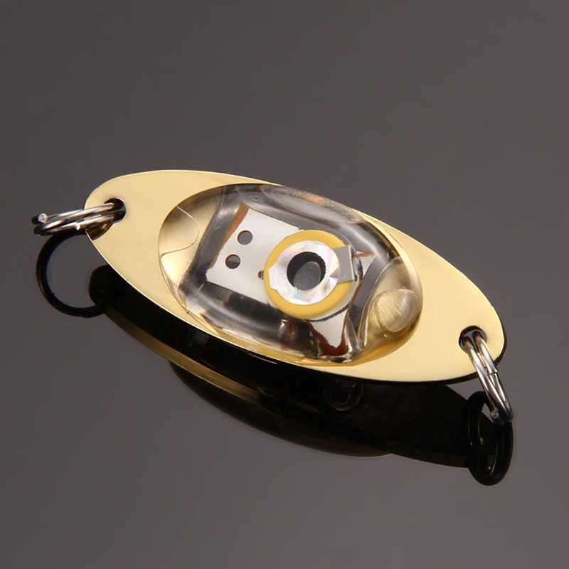 LED Tief Tropfen Unterwasser Auge Form Fischen Fisch köder Licht Blinkend Neu~
