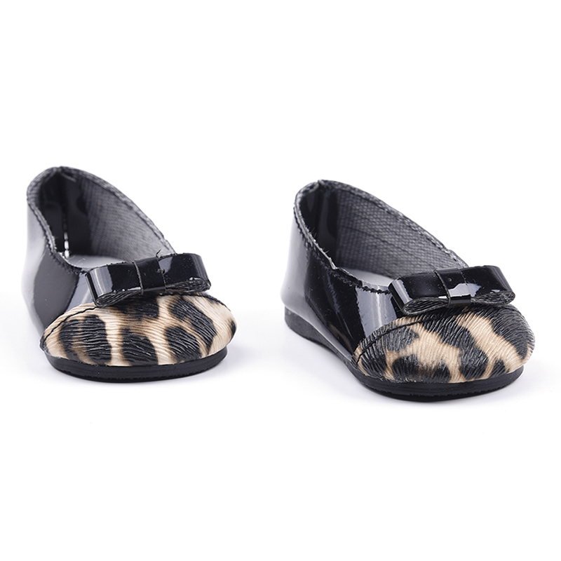 leopard print black doll shoes for dolls kid baby