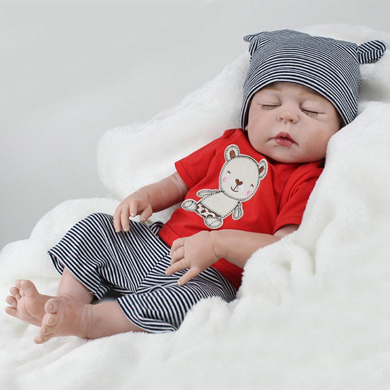 22 boy puppe handgefertigte ganzk rper silikon baby. Black Bedroom Furniture Sets. Home Design Ideas