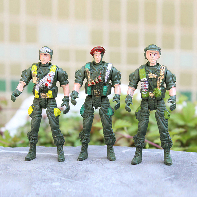 Army Toys Color : Military playset plastic toy soldiers army men cm figures