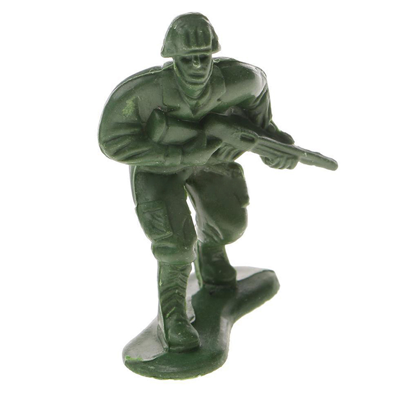 100pcs Silver Action Figures Army Men Toy Soldiers (World