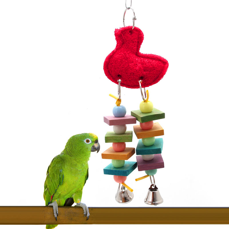 Parakeet Chew Toys : Pet bird parrot swing cage toy chew bites for parakeet
