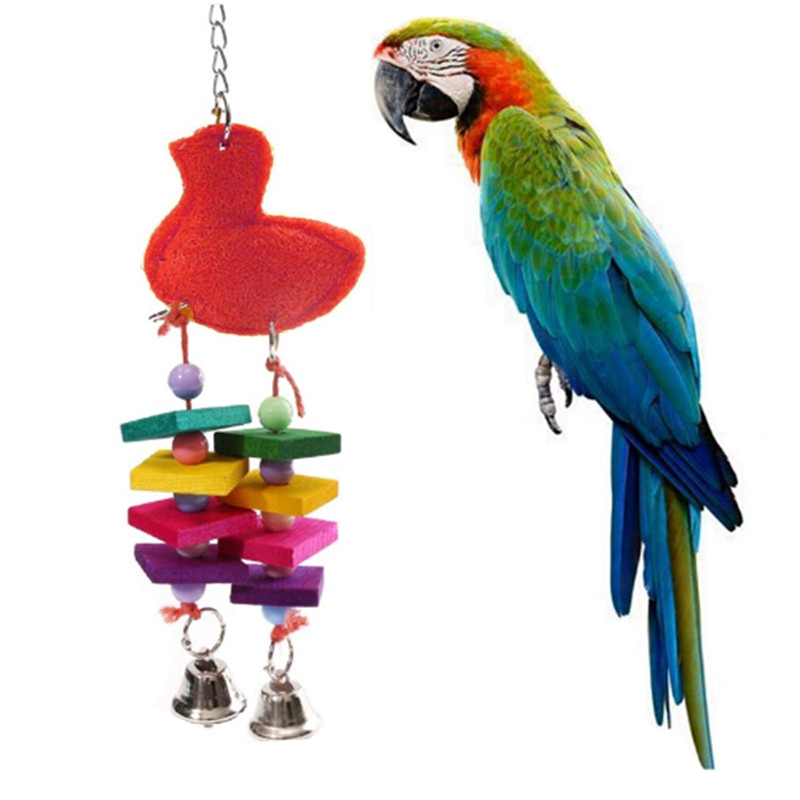 Parrot Pet Bird Chew Cages Hang Toys Wood Large Rope·Cave ...