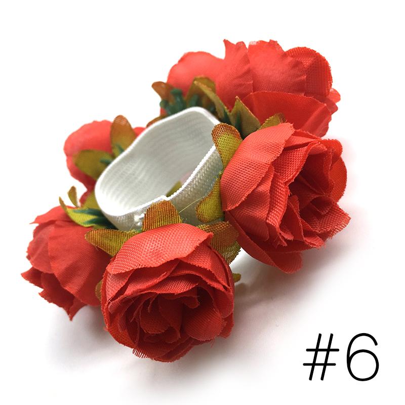 Kinder Krawatten Haar Seil Ring Blume Hairband Elastische Gummi Mode Mädche K1E5