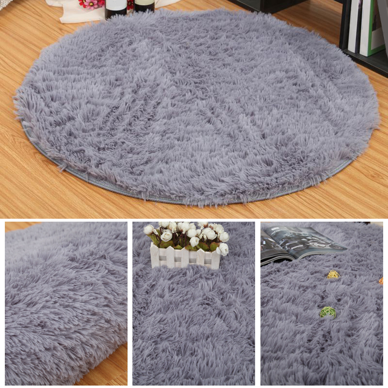 Soft Shaggy Fluffy Rugs Anti Skid Area Rug Room Bedroom Carpet Round Floor Mat Ebay