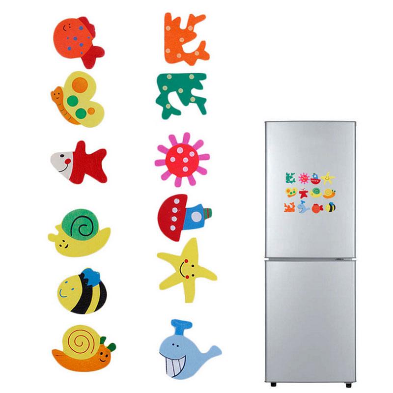 48Stk Bunte Karikatur Kühlschrank Magnete Tipps aus Holz für Kinder 2017 N3H8