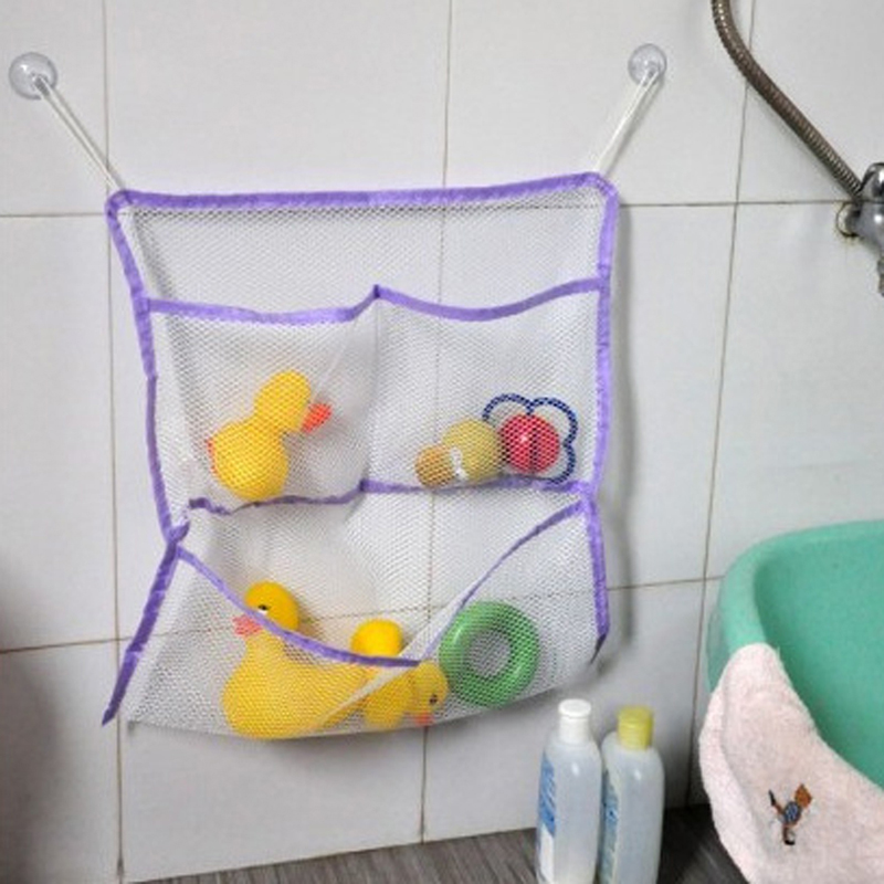 baby bath bathtub toy mesh net storage bag organizer holder bathroom organise. Black Bedroom Furniture Sets. Home Design Ideas