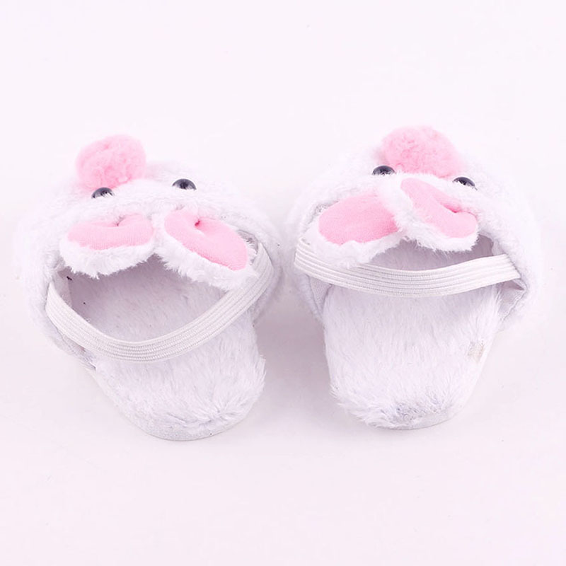 """White Bunny Slippers Rabbit Shoes Made For 18/"""" Dolls B2Q8 Clothes Gifts T3M8"""