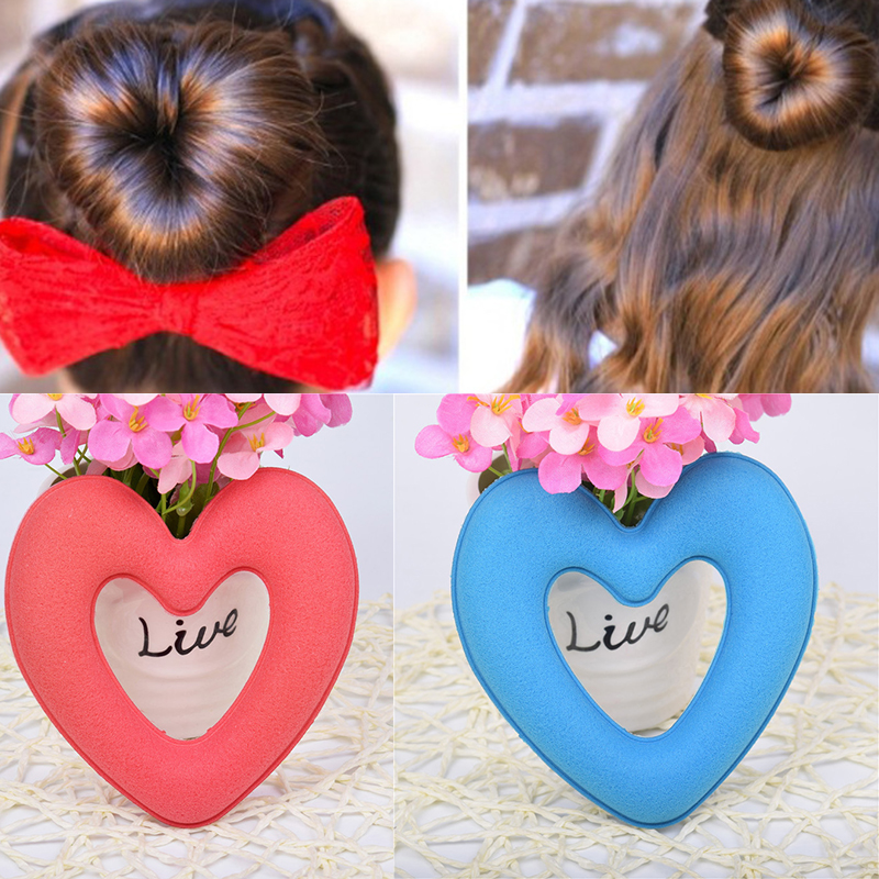 the wrap up hair styling sponge donut shaped hair updo maker sponget foam bun wraps 6252
