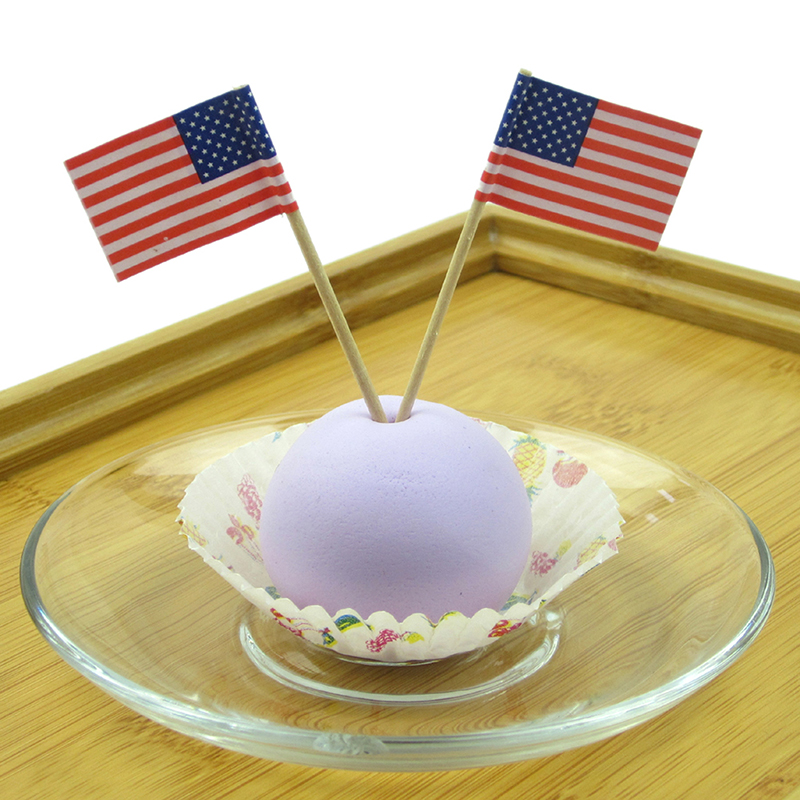 Cake Decoration Sticks : 100X Party American USA Flag Cocktail Cupcake Food Picks ...