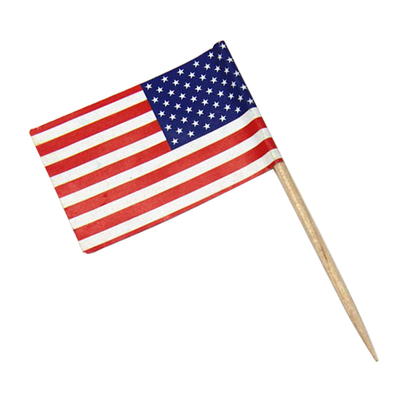 50pcs American Flag Party Food Dessert Sticks Cake Decor ...
