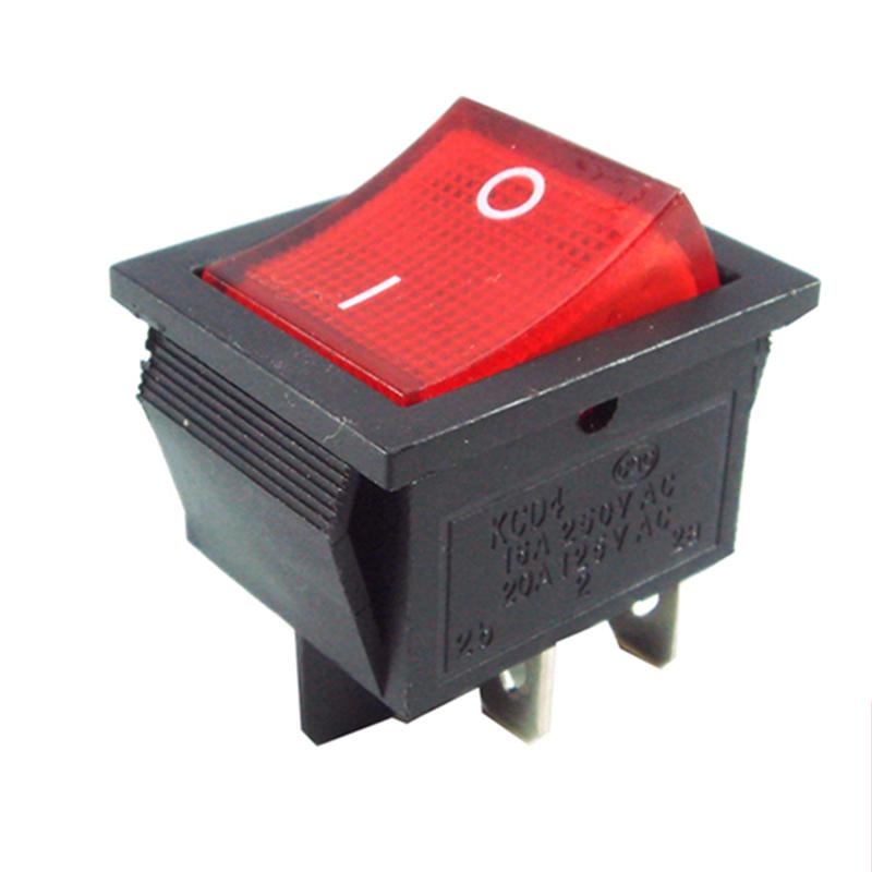Einbauschalter EIN//AUS große Wippe Wippschalter 4-polig 15A 250V,2pcs W0L2
