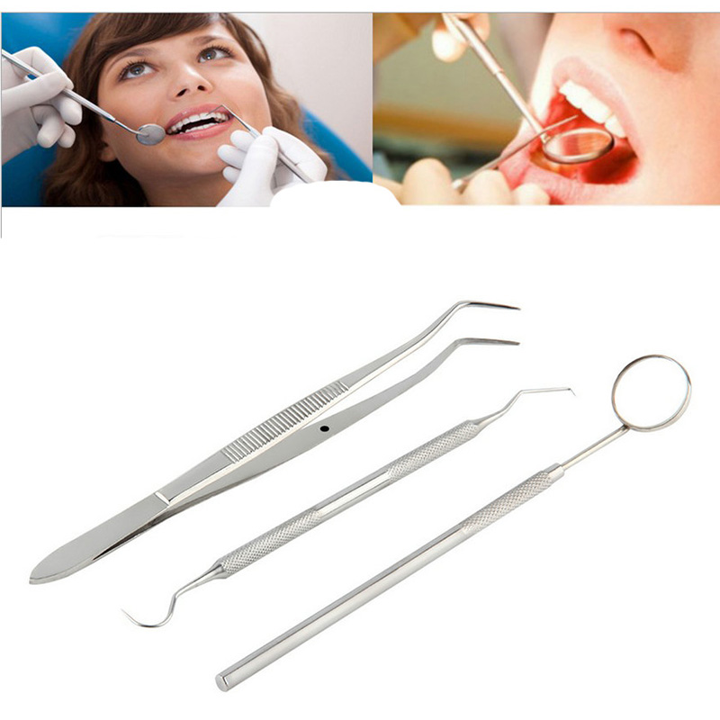 3pcs dentiste dents propres hygi ne picks miroir outil for Miroir de dentiste