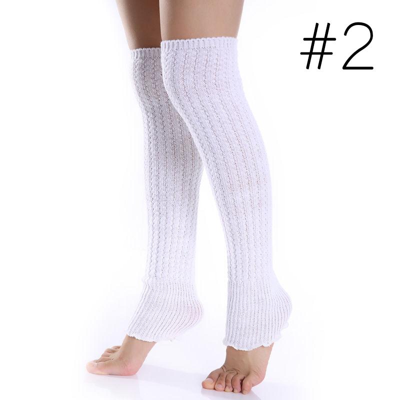 Fashion Women Girl Winter Long Leg Warmers Knit Crochet ...