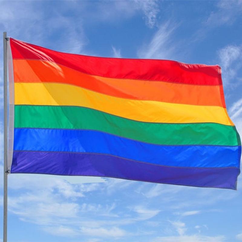 2 Stück Regenbogenfahne Flagge Flag Rainbow Regenbogen 90x150 CSD GAY PRIDE