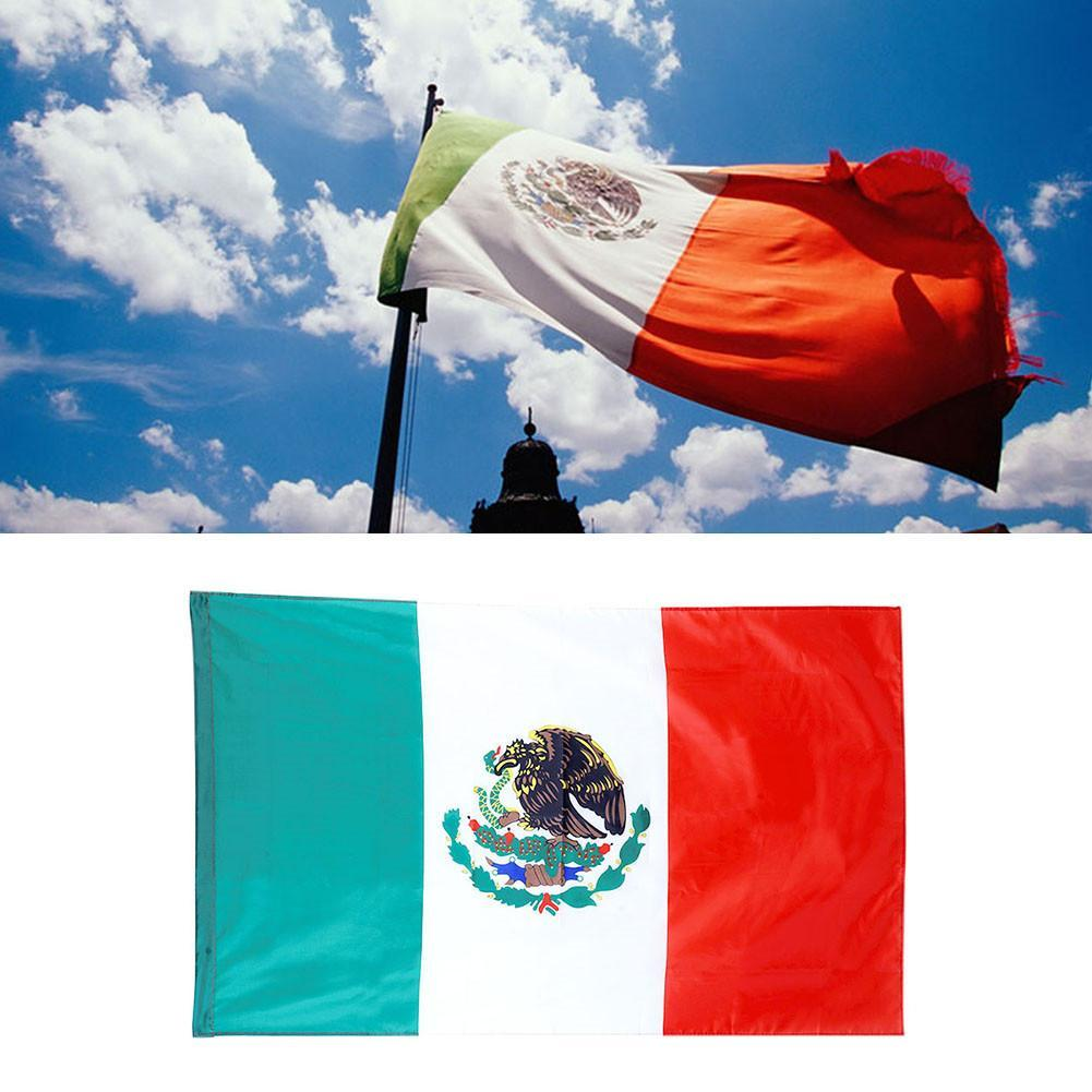 Mexico Flag 3 x 5 Light polyester grommets