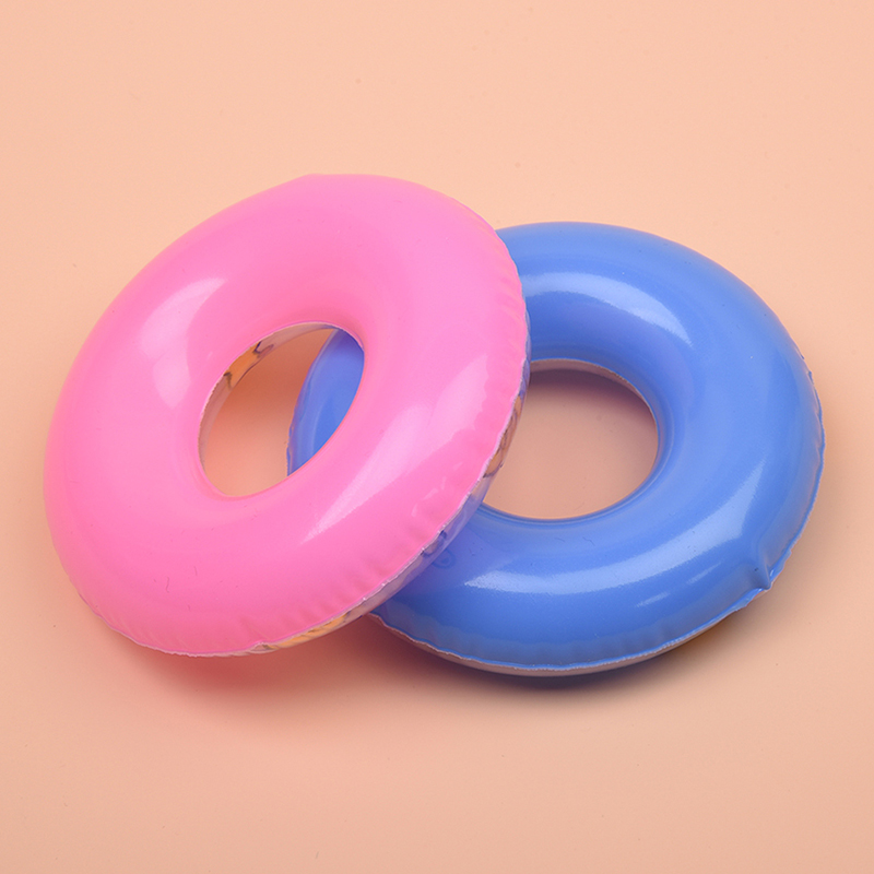 2Pc Doll Swimming Life Buoy Lifebelt Ring for Dolls House Miniature 9 cm O6A9